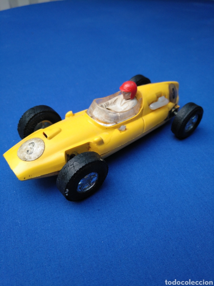 SCALEXTRIC EXIN, COOPER AMARILLO DOBLE GUÍA, ORIGINAL (Juguetes - Slot Cars - Scalextric Exin)