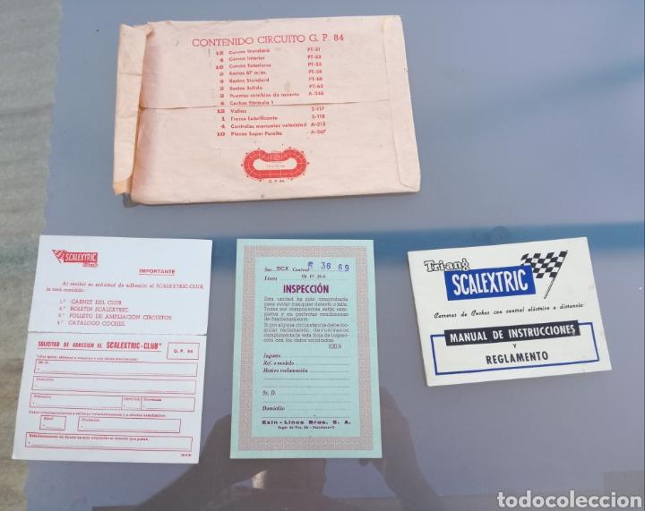 SOBRE CIRCUITO GP84 SCALEXTRIC EXIN (Juguetes - Slot Cars - Scalextric Exin)