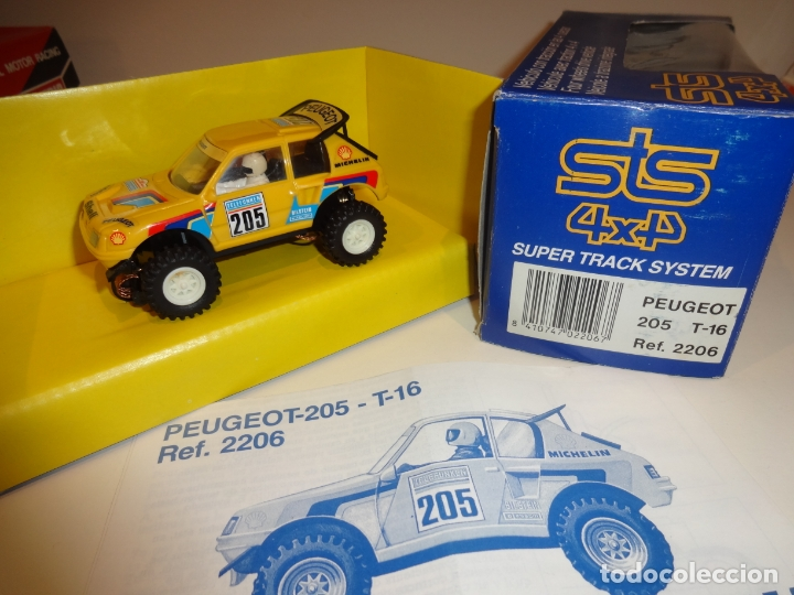 SCALEXTRIC. EXIN. STS. PEUGEOT 205 AMARILLO. REF. 2206 (Juguetes - Slot Cars - Scalextric Exin)