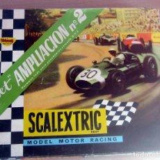 Scalextric: SET AMPLIACION N 2 PARA CIRCUITO G.P. 3 COMPLETO EN MUY BUEN ESTADO ORIGINAL EXIN. Lote 176558013