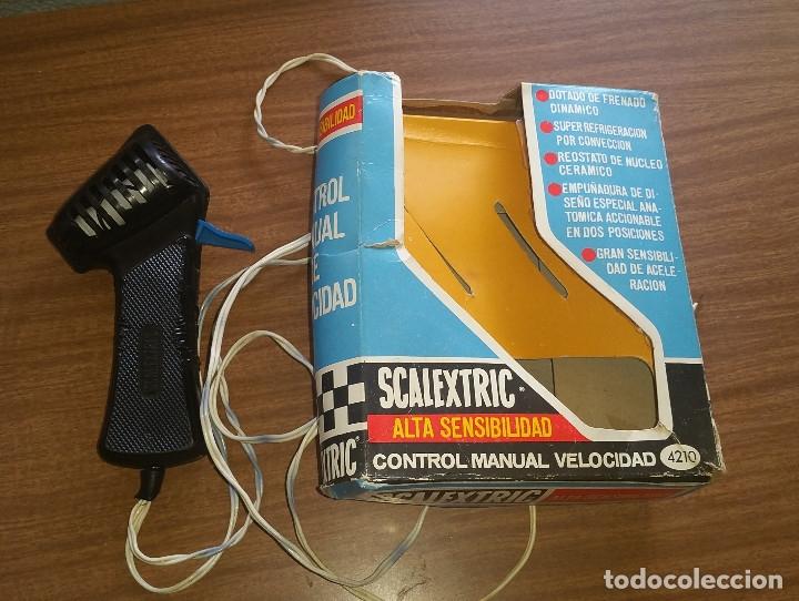 SCALEXTRIC ALTA SENSIBILIDAD CONTROL DE VELOCIDAD MANUAL A4210 CON CAJA ORIGINAL (Juguetes - Slot Cars - Scalextric Exin)