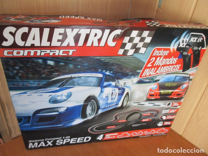 SCALEXTRIC COMPACT: MAXI SPEED (COMPLETO Y SIN USO) (Juguetes - Slot Cars - Scalextric Exin)