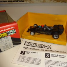 Scalextric: SCALEXTRIC. EXIN. LOTUS MKIV NEGRO. JOHN PLAYER Nº1. REF. 8300. Lote 177203933