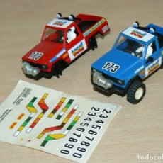 Scalextric: SCALEXTRIC EXIN STS 4X4 LOTE 2 NISSAN PATROL VSD AZUL Y ROJO AÑO 1986 SLOT CARS. Lote 177306025