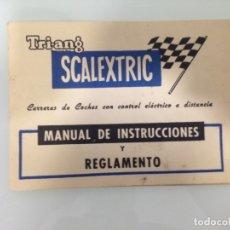 Scalextric: SLOT, SCALEXTRIC, MANUAL DE INSTRUCCIONES Y REGLAMENTO + SRS,INSTRUCCIONES MONTAJE Y MANTENIMIENTO. Lote 177366829