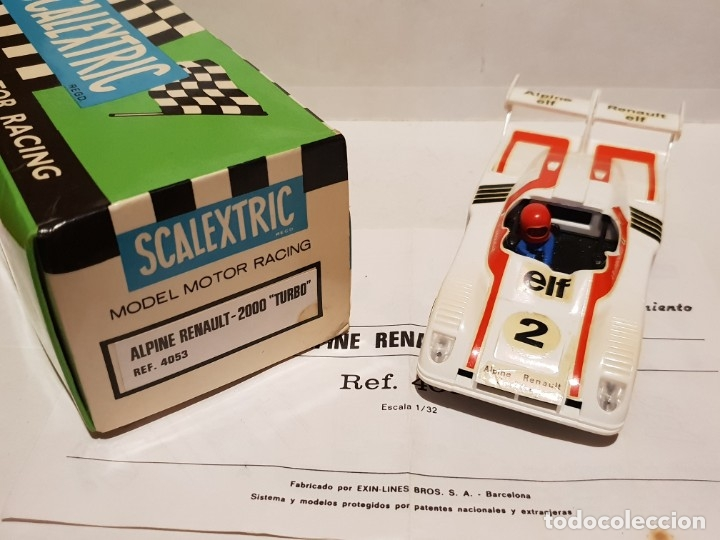 ALPINE RENAULT-2000 TURBO REF.-4053 DE EXIN (Juguetes - Slot Cars - Scalextric Exin)