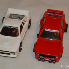 Scalextric: LOTE COCHES AUDI QUATTRO ROJO Y LANCIA RALLY 037 BLANCO - SCALEXTRIC EXIN - MADE IN SPAIN - ¡MIRA!. Lote 178266350