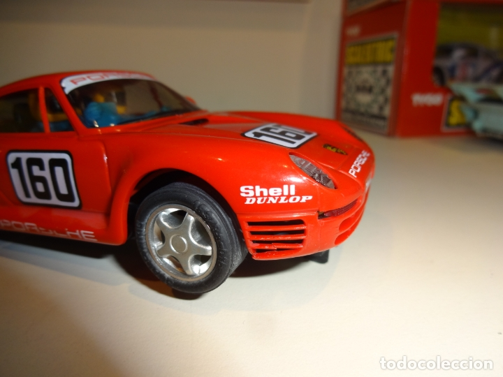 Scalextric: Scalextric. Exin. Hornby. Porsche 959 rojo tampografiado - Foto 4 - 178609782
