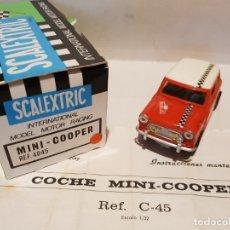 Scalextric: MINI COOPER ROJO CLARO DIFICIL CASCO BUZO REF.-C-45/4045 DE EXIN. Lote 178890450