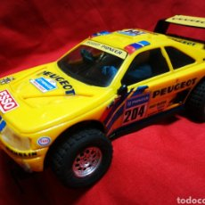 Scalextric: SCALEXTRIC EXIN- PEUGEOT 405 SCX, AMARILLO (PARÍS-DAKAR) A. VATANEN. (MADE IN SPAIN).. Lote 179007483