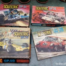 Scalextric: SCALEXTRIC 4 CAJAS EXIN. Lote 179105466