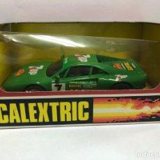 Scalextric: COCHE SLOT CON CAJA FERRARI GTO SEVEN-UP NUNCA JUGADO. Lote 179148105