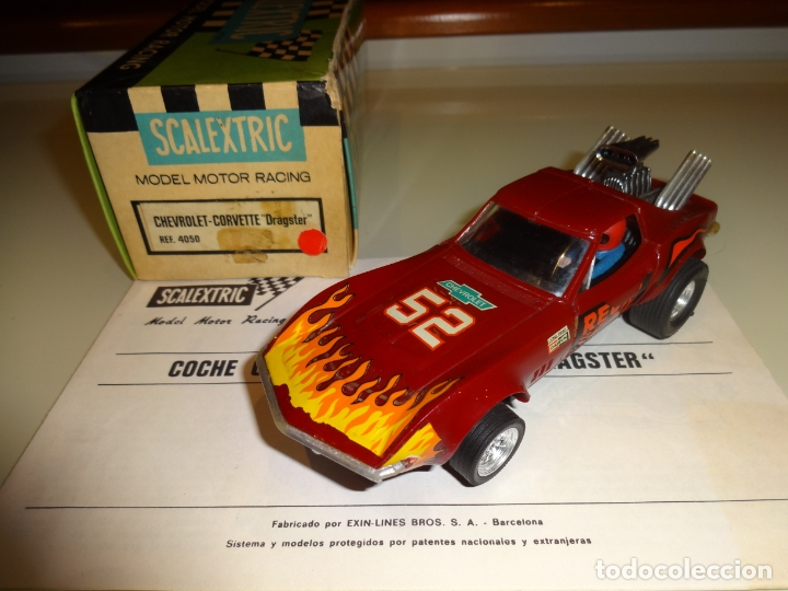 SCALEXTRIC. EXIN. CHEVROLET CORVETTE DRAGSTER. REF. 4050 (Juguetes - Slot Cars - Scalextric Exin)