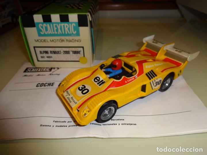 SCALEXTRIC. EXIN. ALPINE RENAULT 2000 TURBO AMARILLO. REF. 4053 (Juguetes - Slot Cars - Scalextric Exin)