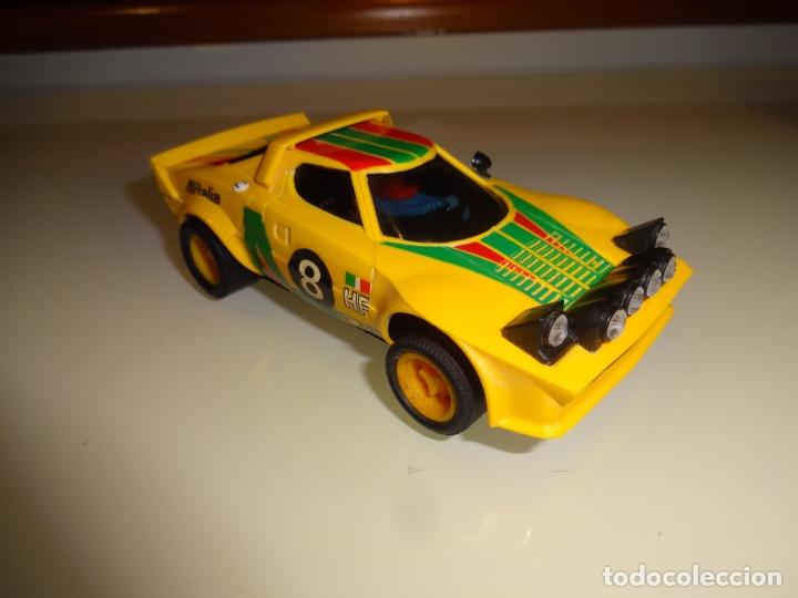 Scalextric: Scalextric. Exin. Lancia stratos amarillo 1º serie. Ref. 4055 - Foto 2 - 179327080