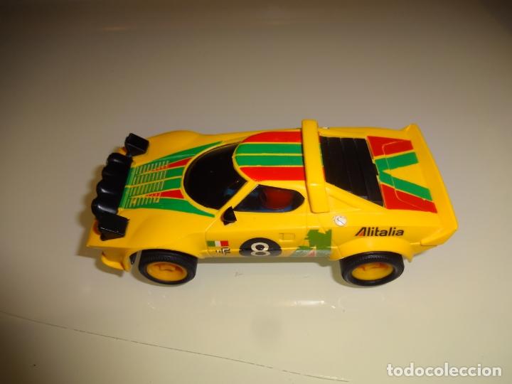 Scalextric: Scalextric. Exin. Lancia stratos amarillo 1º serie. Ref. 4055 - Foto 3 - 179327080