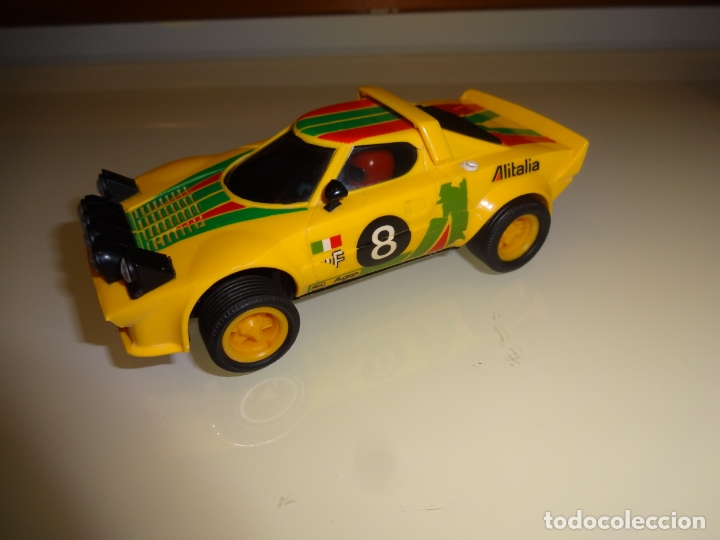 SCALEXTRIC. EXIN. LANCIA STRATOS AMARILLO 1º SERIE. REF. 4055 (Juguetes - Slot Cars - Scalextric Exin)