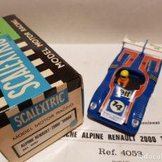 Scalextric: RENAULT ALPINE 2000 TURBO REF.-4053 DE EXIN. Lote 180215436