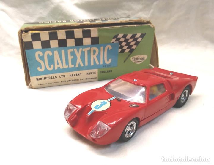 FORD GT REF C 35 ROJO DE EXIN SCALEXTRIC AÑOS 70, CON CAJA (Juguetes - Slot Cars - Scalextric Exin)