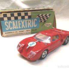 Scalextric: FORD GT REF C 35 ROJO DE EXIN SCALEXTRIC AÑOS 70, CON CAJA. Lote 180296231