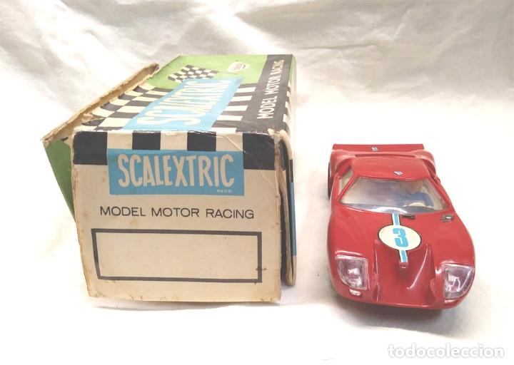 Scalextric: Ford GT Ref C 35 rojo de Exin Scalextric años 70, con caja - Foto 2 - 180296231