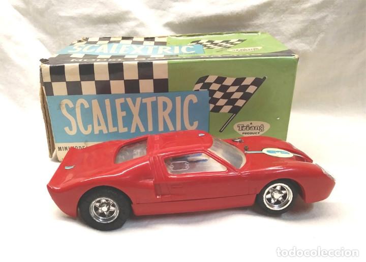 Scalextric: Ford GT Ref C 35 rojo de Exin Scalextric años 70, con caja - Foto 3 - 180296231