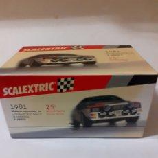 Scalextric: SCALEXTRIC AUDI QUATTRO 25 ANIVERSARIO EN CAJA. Lote 180493592