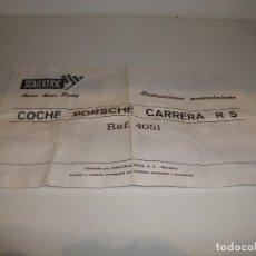 Scalextric: ORIGINAL INSTRUCCIONES MANTENIMIENTO COCHE PORSCHE CARRERA R S REF 4051. Lote 182578353