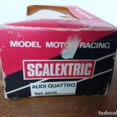 Scalextric: CAJA SIN COCHE AUDI QUATTRO REF. 4070 SCALEXTRIC EXIN. Lote 182766646