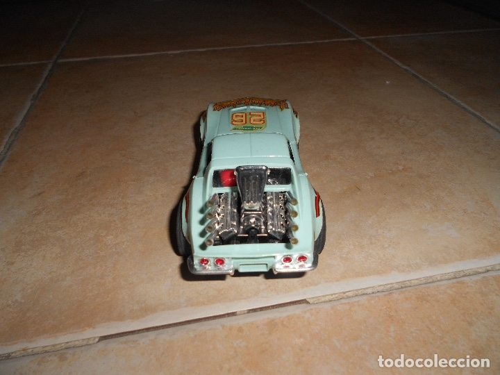 Scalextric: Antiguo CHEVROLET CORVETTE DRAGSTER Ref. 4050 COLOR AZUL SCALEXTRIC EXIN - Foto 4 - 182874967