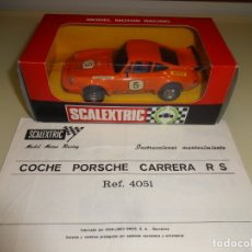 Scalextric: SCALEXTRIC. EXIN. PORSCHE 911 NARANJA. REF. 4051. Lote 163134626
