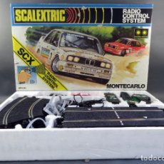 Scalextric: SCALEXTRIC SCX CAJA MONTECARLO CIRCUITO CON 2 BMW M3 EXIN AÑOS 80 CASI SIN USO. Lote 183921312