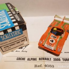 Scalextric: RENAULT ALPINE 2000 TURBO BANCO OCCIDENTAL DE EXIN REF.-4053. Lote 184048365