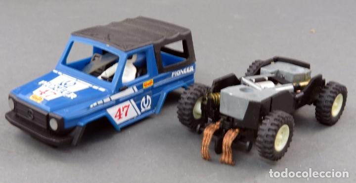Scalextric: Mercedes STS 4x4 azul Pioneer Scalextric Exin años 80 - Foto 2 - 185717091