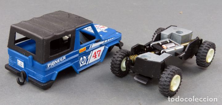 MERCEDES STS 4X4 AZUL PIONEER SCALEXTRIC EXIN AÑOS 80 (Juguetes - Slot Cars - Scalextric Exin)