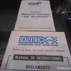 Scalextric: SCALEXTRIC MANUAL INSTRUCCIONES Y CONTROL MANUAL DE VELOCIDAD. Lote 186311581