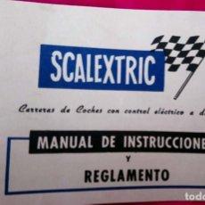 Scalextric: SCALEXTRIC MANUAL ORIGINAL DE INSTRUCCIONES Y REGLAMENTO. EXIN – LINE BROS S. A. BARCELONA.. Lote 188611320