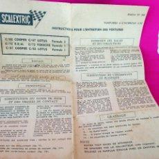 Scalextric: SCALEXTRIC INSTRUCTIONS POUR L'ENTRETIEN DES VOITURES. NOTICE Nº 102 EXIN FRANCE. Lote 188611340