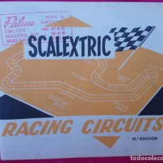 Scalextric: SCALEXTRIC FOLLETO CARTEL RACING CIRCUITS. 15ª EDICIÓN. AÑO 1978 EXIN MADE IN SPAIN.. Lote 188611407