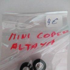 Scalextric: SCALEXTRIC PAR RUEDAS MINI COOPER ALTAYA. Lote 189688651