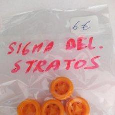 Scalextric: SCALEXTRIC EXIN JUEGO DE RUEDAS PARA SIGMA EN EJE DELANTERO Y LANCIA STRATOS ORIGINALES . Lote 189690550