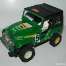 Scalextric: ANTIGUO COCHE TODOTERRENO 4X4 JEEP VERDE DE SCALEXTRIC STS ORIGINAL EXIN - MADE IN SPAIN -. Lote 189979131