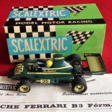 Scalextric: FERRARI B-3 FORM.1 REF. 4052 ESCALA 1/32 DE SCALEXTRIC EXIN FUNCIONA. Lote 190929371