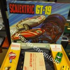 Scalextric: SCALEXTRIC GT-19. EN CAJA ORIGINAL CON LOS DOS COCHES MERCEDES WANKEL C-111. Lote 191199440