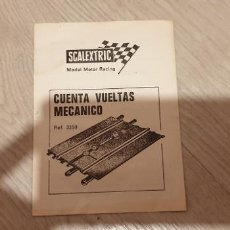 Scalextric: CUENTA VUELTAS MECÁNICO FOLLETO CATALOGO ORIGINAL DE EXIN . Lote 191263703