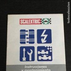 Scalextric: GUIA FOLLETO CATALOGO INSTRUCCIONES Y MANTENIMIENTO - SLOT SCALEXTRIC EXIN PORSCHE LANCIA RENAULT. Lote 191291968