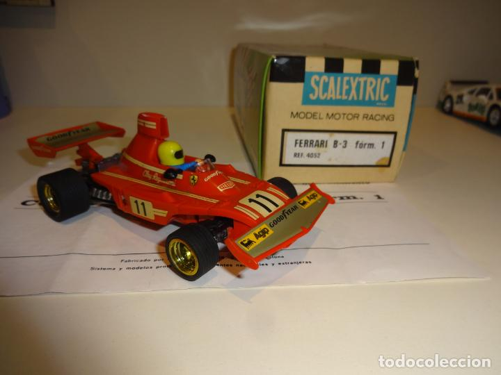 Scalextric: Scalextric. Ferrari B-3 F1 Rojo. Ref. 4052 - Foto 2 - 194083221