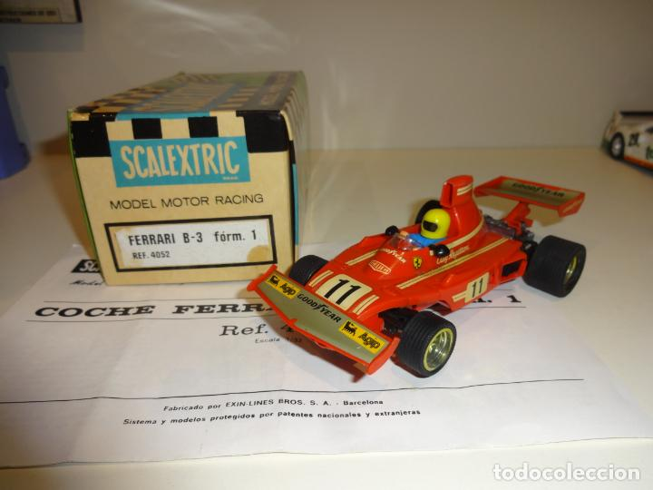 SCALEXTRIC. FERRARI B-3 F1 ROJO. REF. 4052 (Juguetes - Slot Cars - Scalextric Exin)