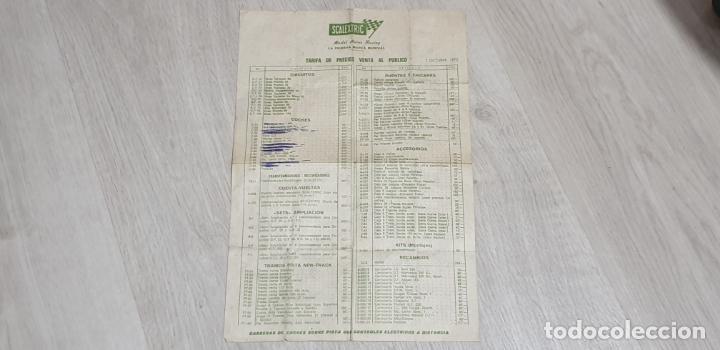 TARIFA DE PRECIOS VENTA AL PÚBLICO FOLLETO ORIGINAL DE EXIN 1 OCTUBRE 1972 (Juguetes - Slot Cars - Scalextric Exin)