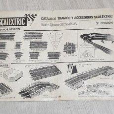 Scalextric: CATALOGO TRAMOS Y ACCESORIOS 3ª TERCERA EDICION ORIGINAL DE EXIN FOLLETO. Lote 194109426